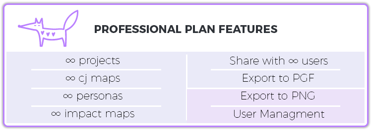 Professional plan features