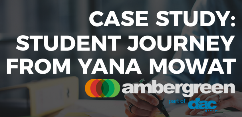 Case study: student journey from Yana Mowat