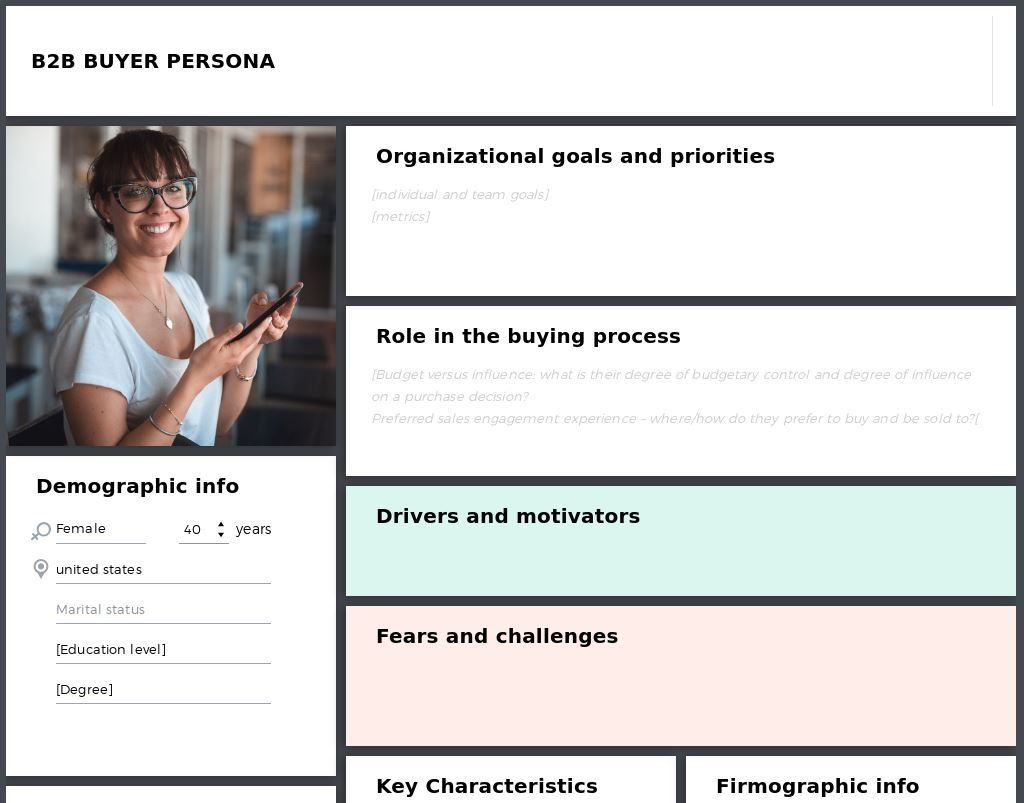 customer persona template user vs buyer persona differences and free template 21281 | b2b persona template 1