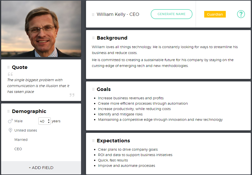 William Kelly - CEO