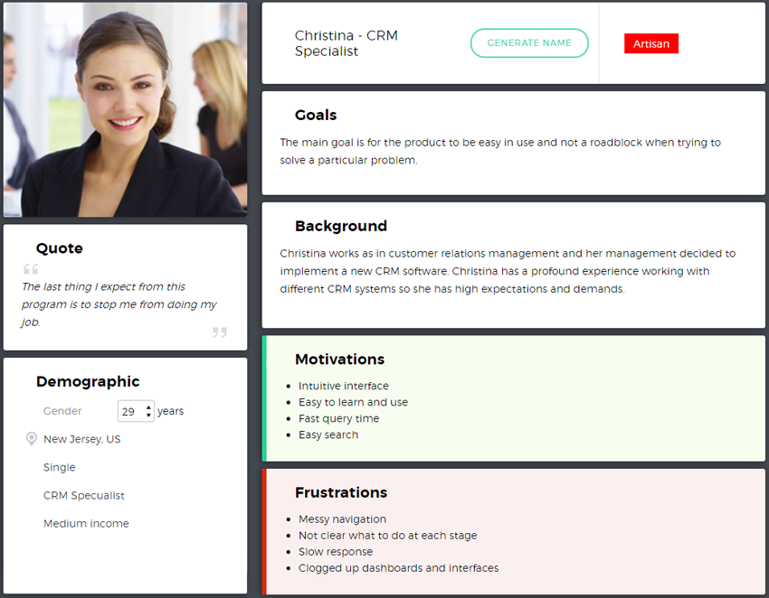 customer persona template b2b customer journey the ultimate guide template 21281 | persona christina