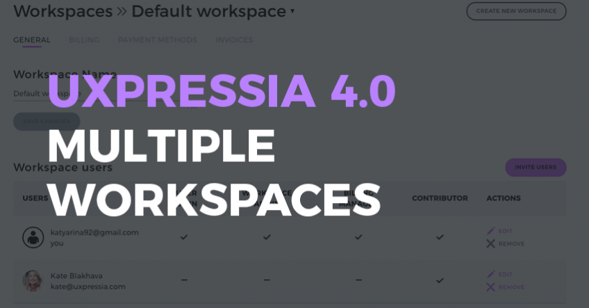 UXPressia multiple workspaces