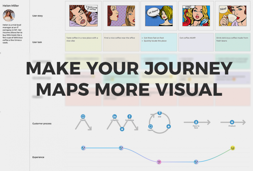 Make your journey maps more visual
