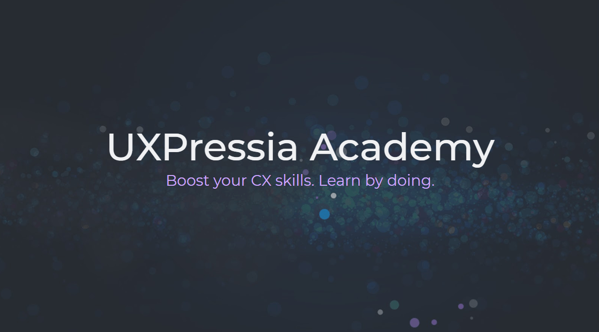 UXPressia Academy customer journey mapping course