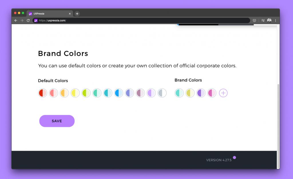 UXPressia brand colors