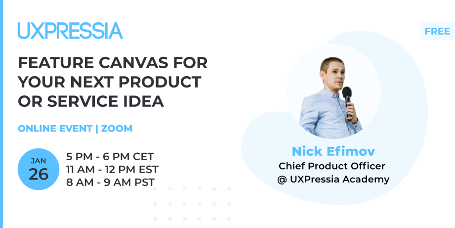 Feature canvas event from UXPressia