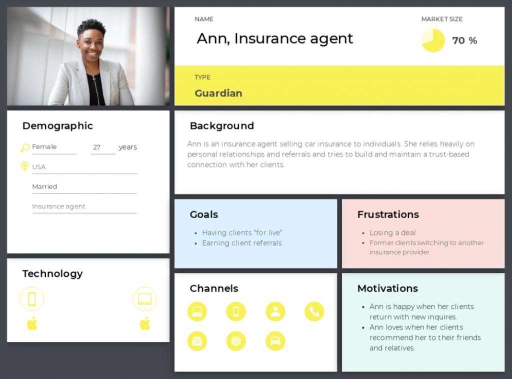insurance agent persona