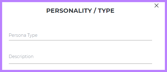 Placeholders for custom personality types
