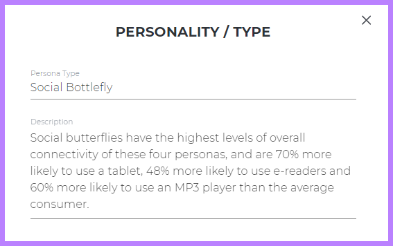 Example of a custom personality type