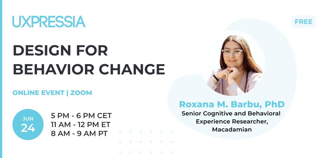 Design for behavior change with Roxana Barbu