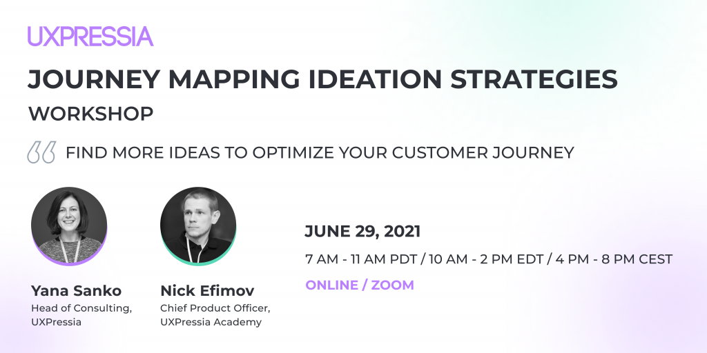Journey mapping ideation strategies workshop