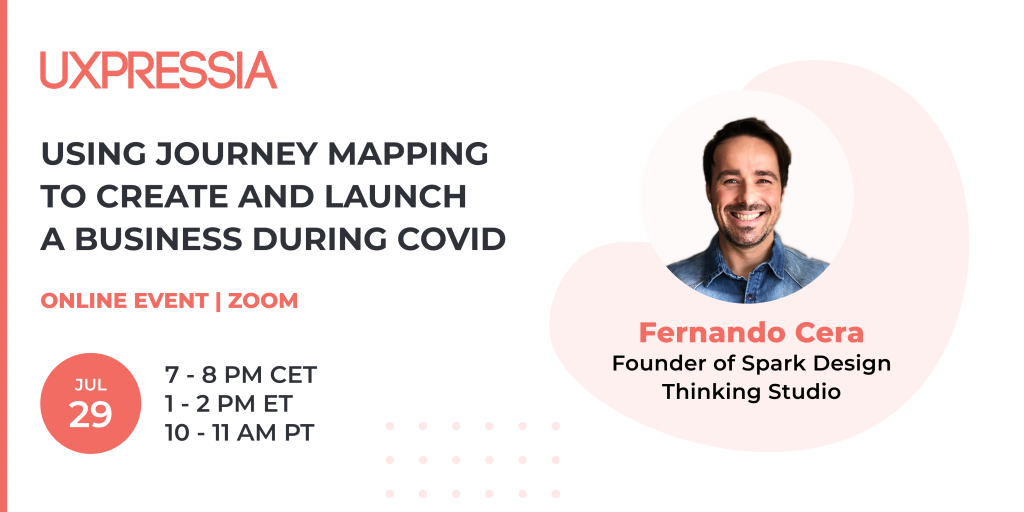 Using journey mapping to create and launch a business during COVID event promo