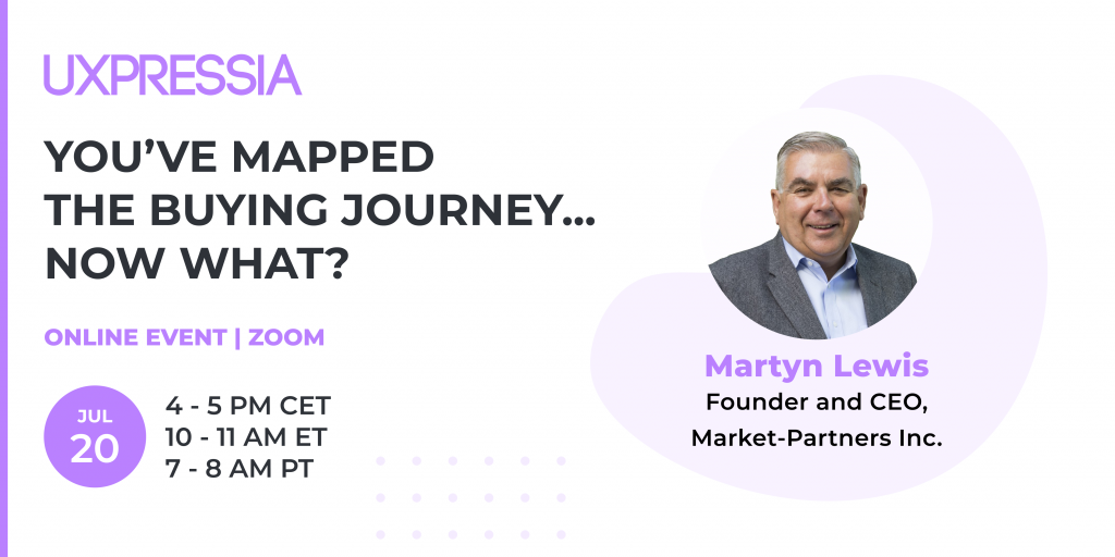 Promo picture for the online event on buying journey