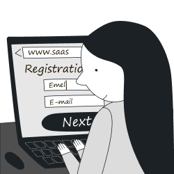 SaaS customer journey registration stage