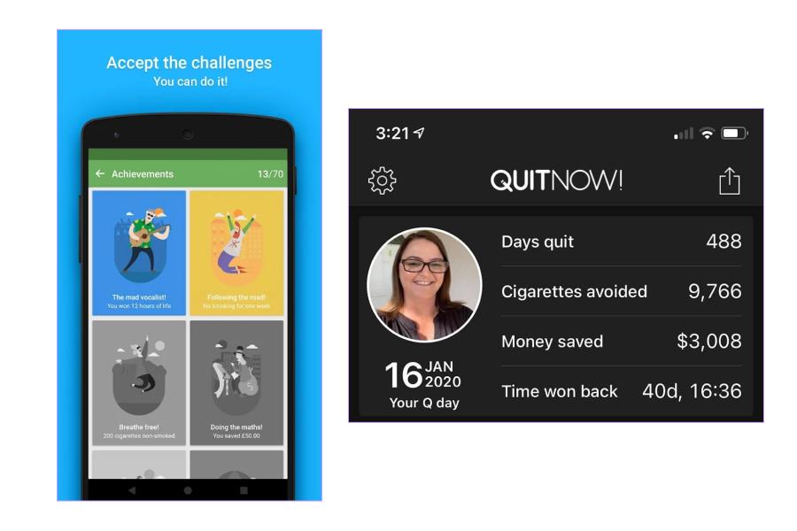 The QuitNow app
