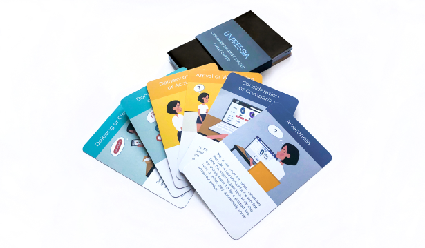 Customer journey stages cheat cards