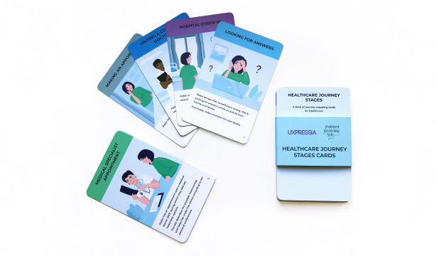 Healthcare journey mapping cards