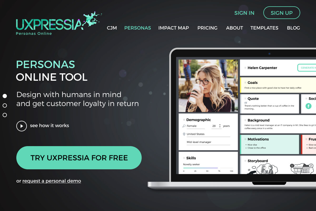 User Persona Creator | Customer (Buyer) Personas Online Tool - UXPressia